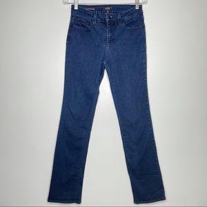 NYDJ Marilyn Straight indigo blue denim Jeans